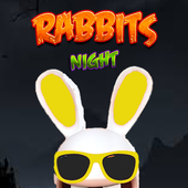 Rabbits herror night icon