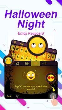 Halloween Night Theme&Emoji Keyboard apk screenshot