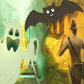 Halloween Runner Pumpkin poster
