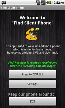 Find My Phone (with a SMS) apk screenshot