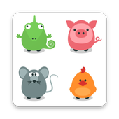 Pets memory game for kids icon