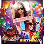 Happy Birthday Photo Collage icon
