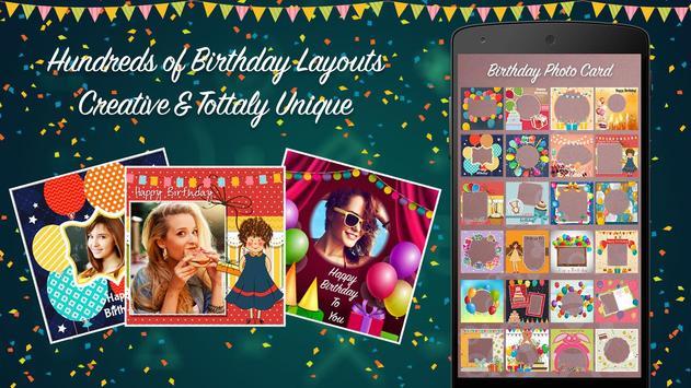 Happy Birthday Photo Collage poster