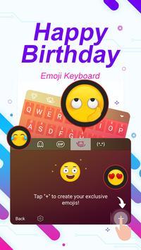 Happy Birthday ThemeEmoji Keyboard