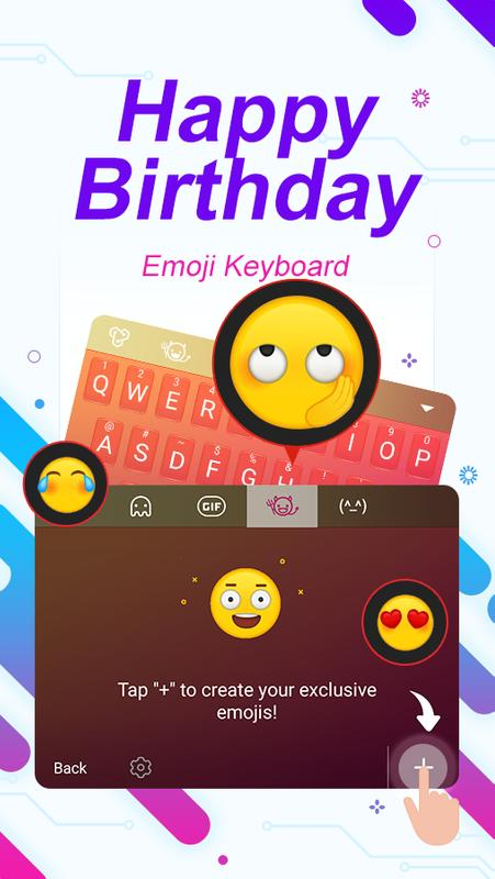Happy Birthday ThemeEmoji Keyboard 3