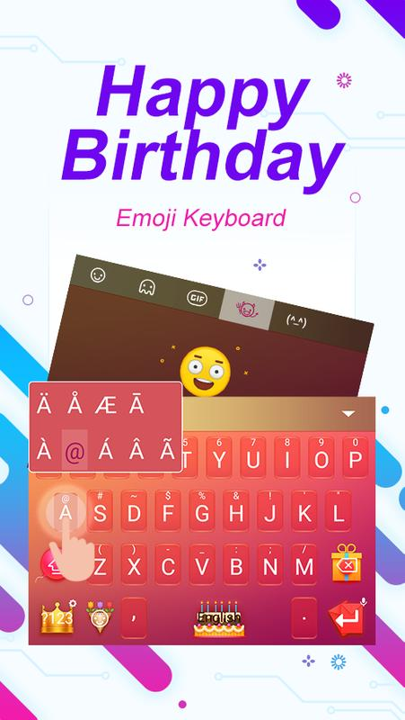 Happy Birthday ThemeEmoji Keyboard Poster Screenshot 1