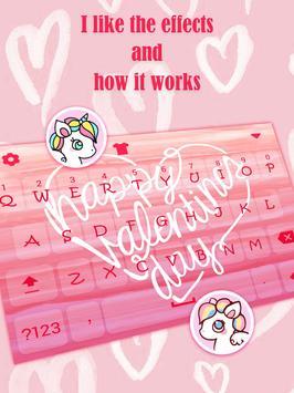 Happy Valentines Day Keyboard Theme for Girls screenshot 2