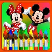 Color Mickey Mouse icon