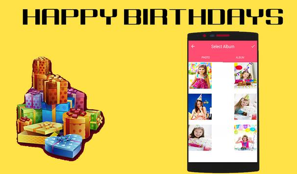Maker Birthday Video with song apk screenshot
