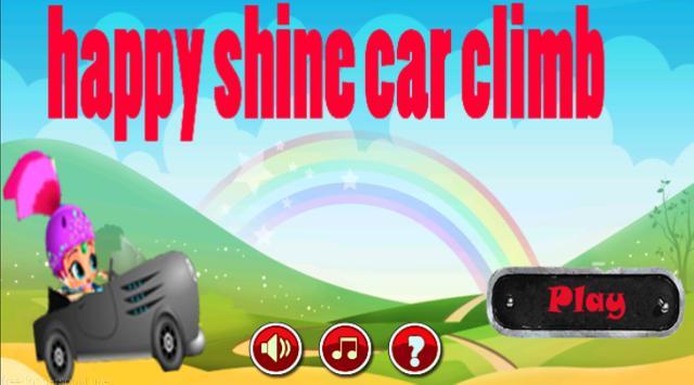 happy shine car climb poster