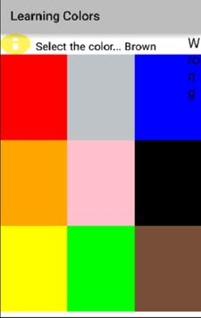 Learning Colors poster