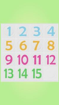 Number Puzzle 4x4 poster