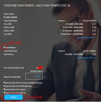 Bonus $10 BitCoin Mining No Deposit Or Deposit screenshot 1