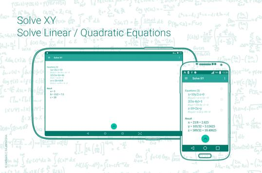 Linear / Quadratic Equation Solver. Step-by-Step APK Download - Free ...