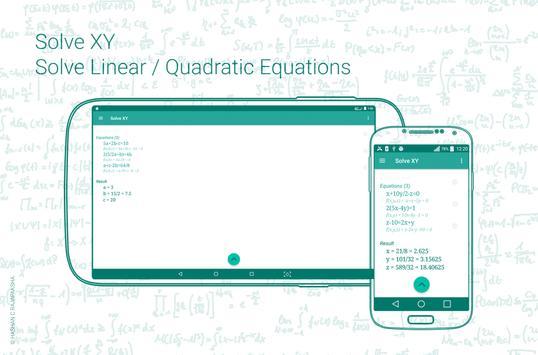 Linear / Quadratic Equation Solver. Step-by-Step APK Download - Free ...