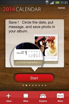 TinTint 2016 Calendar poster
