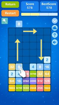 2048 Number Puzzle Games- Math Tricks Workout screenshot 2