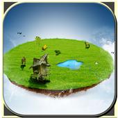 Flying island icon