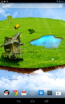 Flying island poster