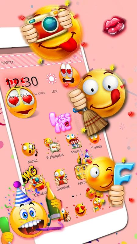 ... Emoji Wallpaper Theme screenshot 4 ...