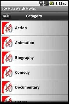 100 Must Watch Movie apk screenshot