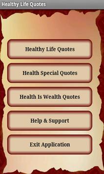 Healthy Life Quotes apk screenshot
