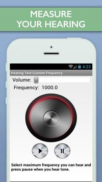 Hearing Test Custom Frequency poster