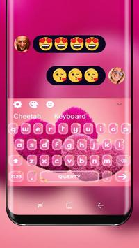 Cherry Love Pink Heart Keyboard Skin Red Romance poster