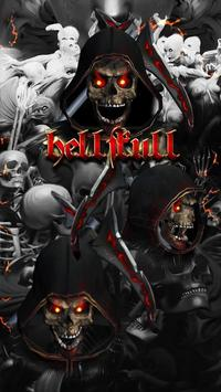 Blood Reaper 3D Skull Theme screenshot 1