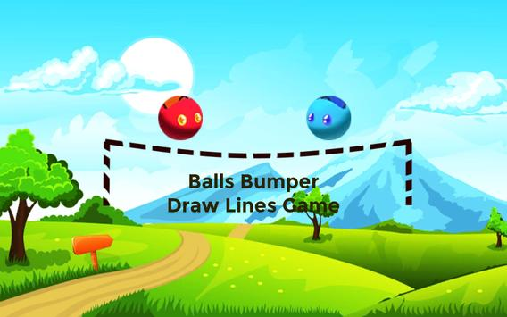 Balls Bumper - Draw Lines Game poster