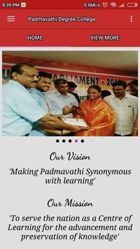 Padmavathi Degree College poster