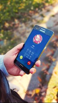 Hello Call from kitty Prank Games for Girls poster