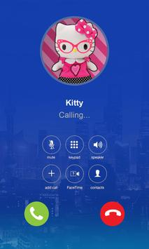 Hello Call from kitty Prank Games for Girls apk screenshot