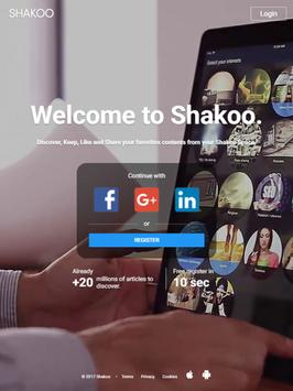 SHAKOO – DISCOVER, LIKE and SHARE your INTERESTS! apk screenshot