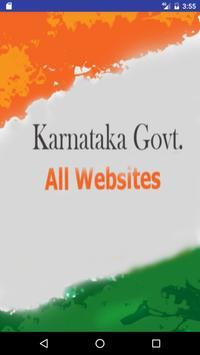 Karnataka Govt. Websites poster