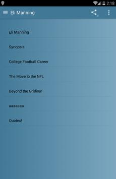 Eli Manning screenshot 1