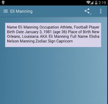 Eli Manning screenshot 3