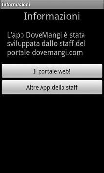 Dove Mangi apk screenshot