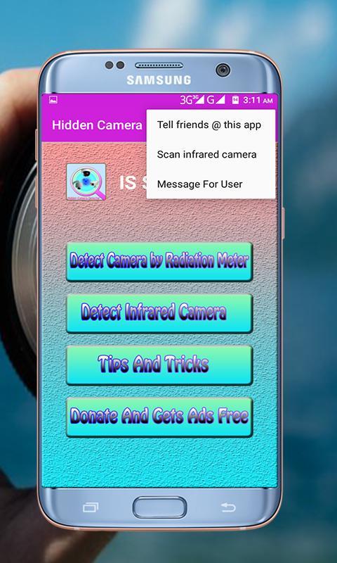 how to detect hidden camera app