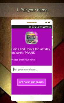 Coins & Points for last day on earth prank poster