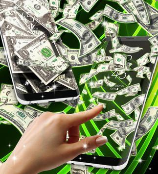 Falling money live wallpaper apk screenshot
