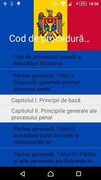 Cod de procedură penală al RM poster