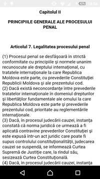 Cod de procedură penală al RM screenshot 1