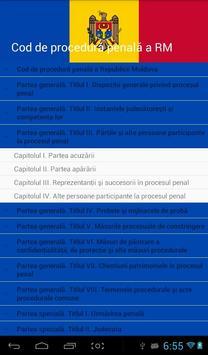 Cod de procedură penală al RM screenshot 2