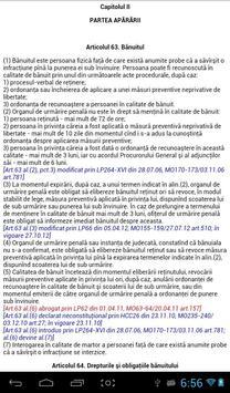 Cod de procedură penală al RM screenshot 3