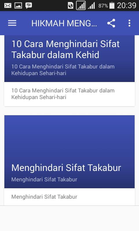 Hikmah Menghindari Sikap Takabur For Android Apk Download