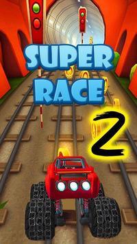 Blaze car Race Game poster
