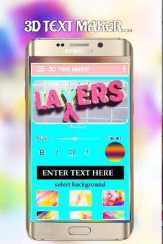 3D Text Maker and editor - 3D Logo Maker poster