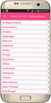 Voter List 2019 Online Status apk screenshot