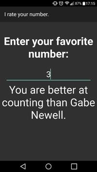 I rate your number. screenshot 2